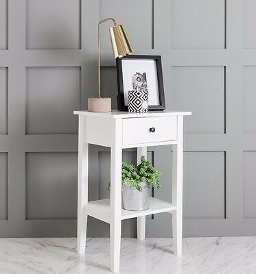 White Trend Bedside Cabinet side table