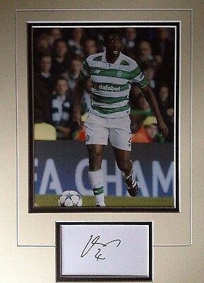 Kolo Toure - Celtic Footballer - Excellent Signed Colour Photo Display