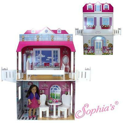 """BIG Two Story 18 Inch Doll Playhouse House for 18"""" American Girl Dolls"""