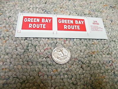 Herald King decals G Gauge GBW Green Bay Route heralds 2' x 3.75'   XX178