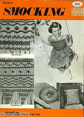 Smocking Book 2 Pattern Instruction Book Penelope Publications 8 Patterns Rare