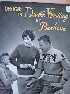 Double Knitting Pattern Book Poodle Sweater For Entire Family More