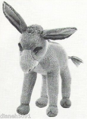 Dinah The Donkey Stuffed Toy Doll Knitting Pattern