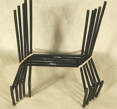 "Lot of Five (5) XL Iron Metal Display Stands ** 6"" x 3"" x 5""  ** HEAVY DUTY"