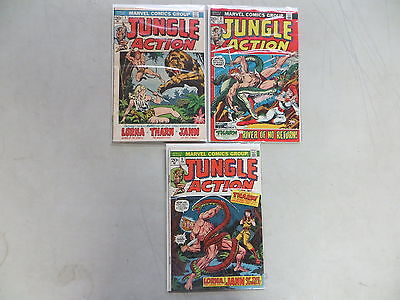 Jungle Action 3 Issue Bronze Comic Run Lot 1 2 3 Marvel
