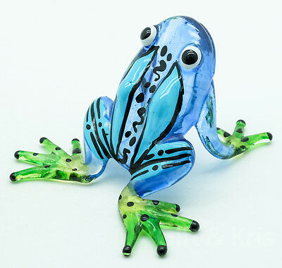 Figurine Animal Hand Blown Glass Amphibian Poison Dart Frog - GPFR047