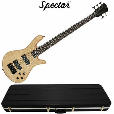 Spector Legend Classic 5 String Natural Oil Stain Bass Guitar inc Hardcase