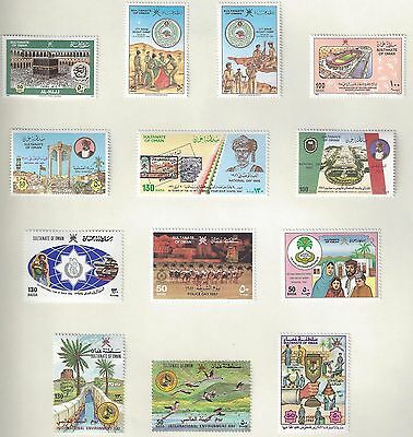 Oman 1986 9 Sg 326 374 Collection Of 45 + 2 Souvenir Sheets Complete Sets Hinged