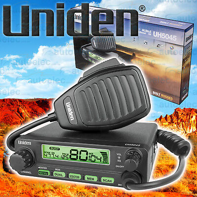 Uniden 80 Channel Uh5045Nb Uhf Cb Radio 5W 5 Watt Mobile Two Way New 4X4 4Wd