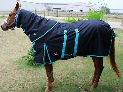 """76"""" 1200D Turnout Waterproof Horse WINTER BLANKET HEAVY Neck Cover 550Combo"""