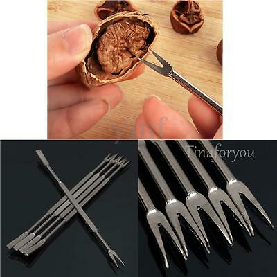 10X Stainless Steel Restaurant Fruit Walnut Nuts Seafood Crab Lobster Fork