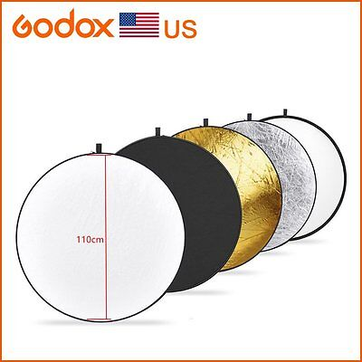 Godox 5 in 1 Collapsible 110cm Gold Light  Flash Studio Reflecto Diffuser