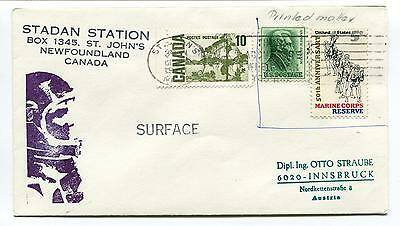 1968 Surface Stadan Station St. John's Newfoundland Canada Space Cover