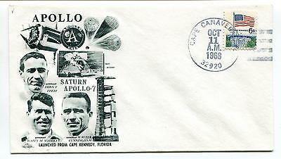 1968 Saturn Apollo 7 Lanched Cape Kennedy Florida Cape Canaveral Space Cover