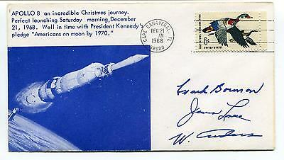 1968 Apollo 8 Perfect Launching Moon Cape Canaveral Florida Space Cover SIGNED?