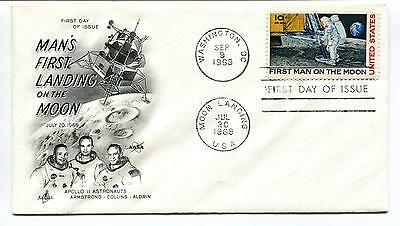 1969 First Day of Issue Man's First Landing on the Moon Washington Space Cover