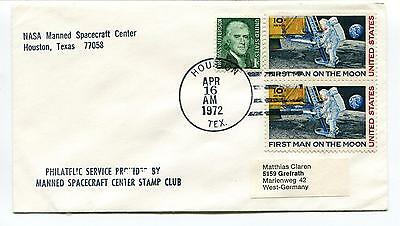 1972 NASA Manned Spacecraft Center Houston Texas West Germany Space Cover