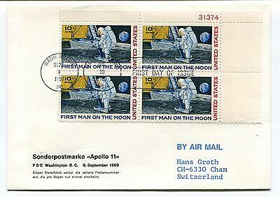 1969 Apollo 11 Washington DC First Man on the Moon Switzerland Space Cover