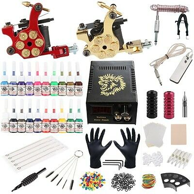 Kit de Tatouage Machine Gun Alimentation Pedale 50 Aiguille Tube Grip Set Tattoo
