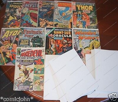 500 x SILVERAGE SIZE COMIC BACKING BOARDS.