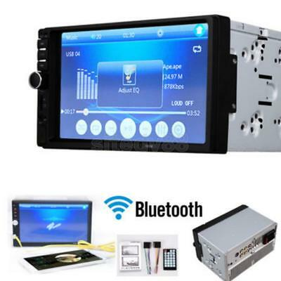 "7"" 2 DIN Car Stereo Touch Screen MP5 Player Bluetooth Radio in Dash USB TF"