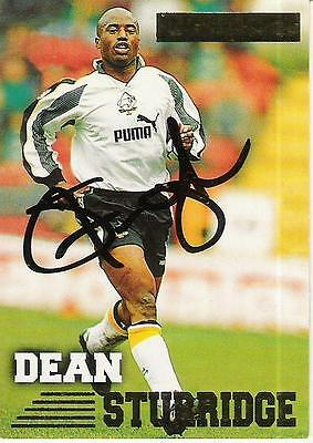 A Merlins Premier Gold card signed by Dean Sturridge of Derby County.