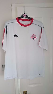 TORONTO FC Football Shirt Men's Adidas Soccer Jersey MLS White Training Top XL