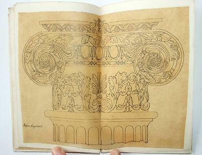 1860 Architectural Notebook, Drawings, Watercolours Frescoes St Mary's Guildford