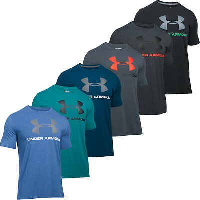 Under Armour 2017 Charged Cotton Sportstyle Logo Hommes Tee T-shirt Training Top