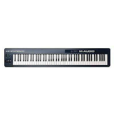 M Audio Keystation 88 MkII USB MIDI Keyboard Controller With Ableton Live Lit...