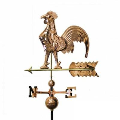 Copper Rooster Weathervane Weather Vane FULL BODY with Roof Mounting Hardware