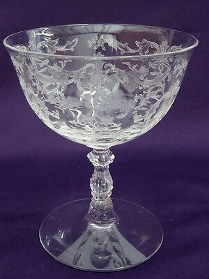 "Fostoria Crystal Navarre Low Sherbet Champagne 4-3/8"" - Excellent"