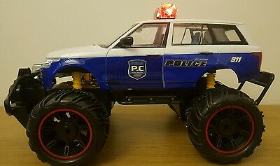LARGE MONSTER TRUCK POLICE CAR SIREN SOUND LEDS RECHARGEABLE Remote Control Car