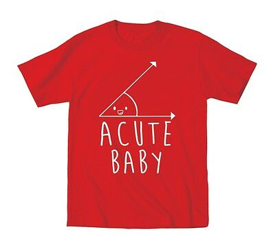 Acute Baby Cute Newborn Kids Outfit Gift Funny Red Toddler T-Shirt