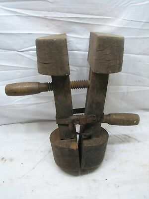 Antique Hat Stretcher Wooden Form Millinery Tool Sizer Block Cowboy Western Mold
