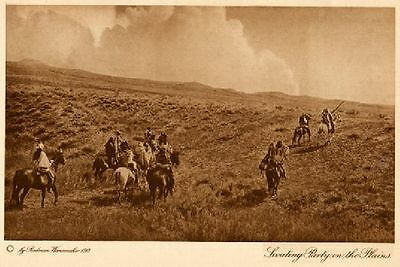 The Vanishing Race  - Scouting Party On The Plains - Genuine - Photogravure
