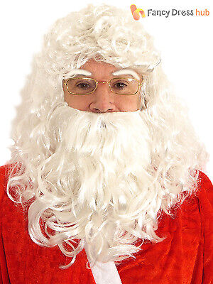 Deluxe Santa Wig Beard Eyebrows Father Christmas Fancy Dress Costume Accessory