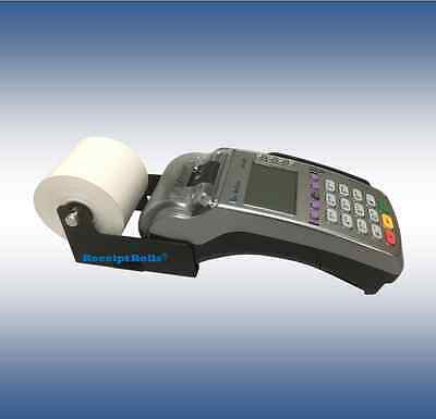 Verifone VX520 2 1/4 x 230' Thermal Paper Roll Adapter - Black