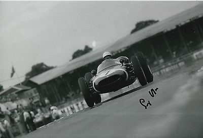 Stirling Moss Hand Signed Formula 1 12x8 Photo F1 5.