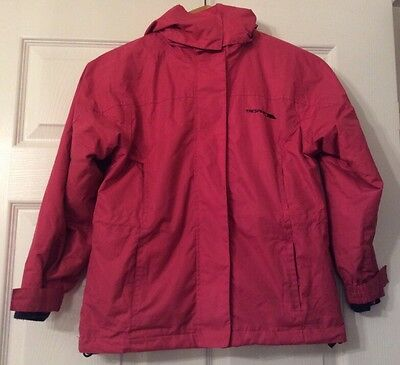 Girl's Hooded Winter Coat By 'Trespass' - Colour Pink Size Age 7 Years!!