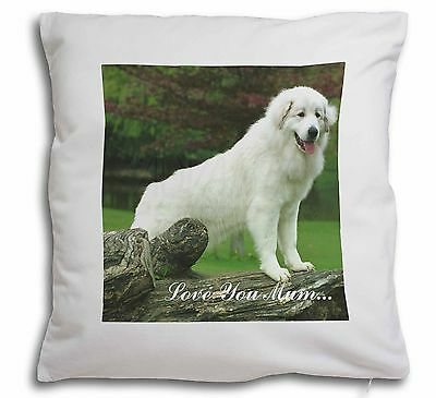 Pyrenean Mountain Dog 'Love You Mum' Soft Velvet Feel Scatter Cus, AD-PM1lym-CPW