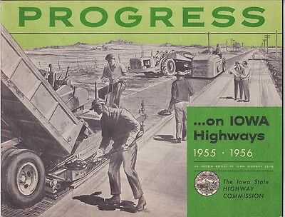 1956 Iowa State Highways Promotional Booklet Brochure