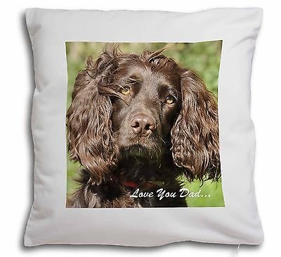 Blue Roan Cocker Spaniel with Rose Black Border Satin Feel Cushion AD-SC13R-CSB