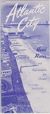 1940's Atlantic City Hotel Rates promotional Brochure