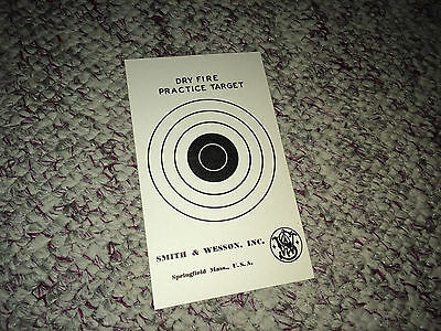 SMITH & WESSON Original Vintage Dry Fire Practice Target 1960s Micrometer Sight
