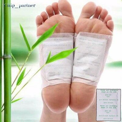 Detox Foot Pads Patch Detoxify Toxins Keep Fit Health Care Bamboo Vinegar Pads