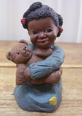 Prissy Girl Figurine Black Americana Martha Holcombe All God's Children Love VTG