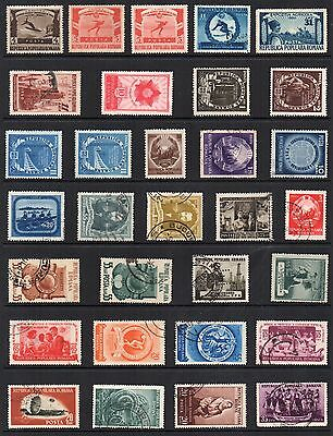 ROMANIA STAMP Collection 1950s MINT USED REF:QD268