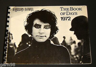 Rolling Stone Book Of Days 1972 Calender OOP