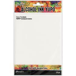 """5""""X7"""" - Tim Holtz Alcohol Ink Transulcent Yupo Paper 10 Sheets"""